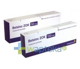 Betaloc ZOK 50 tabletki o przedłużonym uwalnianiu 50 mg 28 sztuk