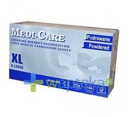 Rękawice diagnostyczne lateksowe MEDI-CARE XL 100 sztuk