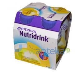 Nutridrink smak waniliowy płyn 4 sztuki 200ml