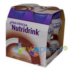 Nutridrink smak czekoladowy płyn 4 x 200 ml