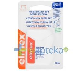 Elmex nić dentystyczna niewoskowana miętowa 50 m 15763