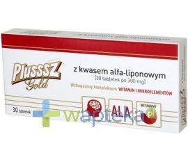 Plusssz Gold z kwasem alfaliponowym 30 tabletek