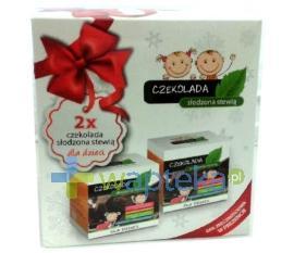 Czekolada słodzona stewią dla dzieci Opakowanie świąteczne 2x100g