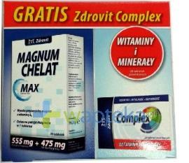 Zdrovit Magnum Chelat Max 28 tabletek musujących + Zdrovit CompleX
