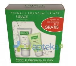 URIAGE HYSEAC K18 Krem na trądzik z kwasami AHA 40 ml + GRATIS Żel oczyszczający 50 ml