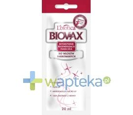 BIOVAX Maseczka intensywnie regenerująca do włosów farbowanych 1 saszetka 20ml