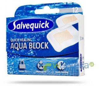 Plastry SALVEQUICK AQUA BLOCK szybkogojące 12 sztuk