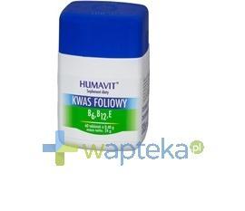 Humavit Kwas foliowy witamina B6,B12,E 120 sztuk