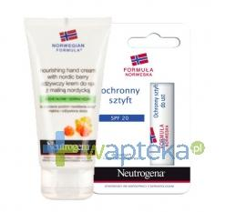NEUTROGENA  Krem do rąk z maliną nordycką 75ml + Sztyft do ust 4,8g