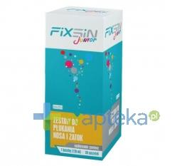 FIXSIN Junior Zestaw do płukania nosa i zatok 120ml + 30 saszetek