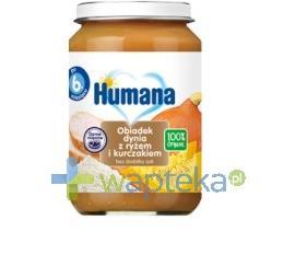 Humana 100% Organic Obiadek dynia z ryżem i kurczakiem 190g + HUMANA 2 28g GRATIS