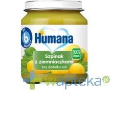 Humana 100% Organic Szpinak z ziemniaczkami 125g