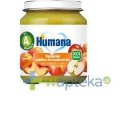 Humana 100% Organic Deserek jabłko-brzoskwinia 125g