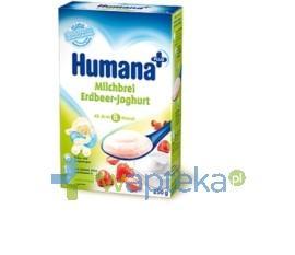HUMANA Kaszka mleczna ryżowa z truskawkami i jogurtem 250g