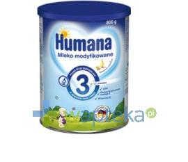 Humana 3 Mleko następne od 10 m-ca Bananowo-Waniliowe 800g