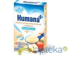 Humana Kaszka bezmleczna ryżowo-kukurydziana z jabłkami 200g + HUMANA 2 28g GRATIS