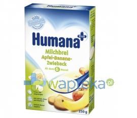HUMANA Kaszka mleczno-ryżowa jabłko banan z sucharkami 250g