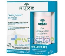 NUXE Creme Fraiche de Beaute Enrichie krem nawilżająco kojący 50 ml + woda micelarna 100 ml
