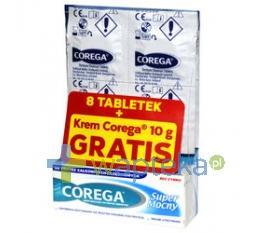 Corega 8 Tabs + Corega krem Super Mocny 10g