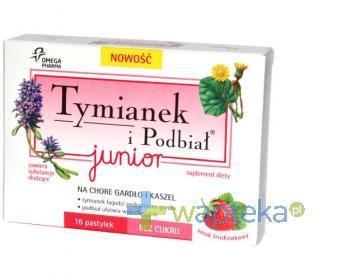 Tymianek i Podbiał Junior smak truskawkowy 16 pastylek