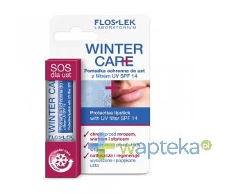 FLOS-LEK WINTER CARE ochrona zimą Pomadka ochronna do ust z filtrem UV SPF 14