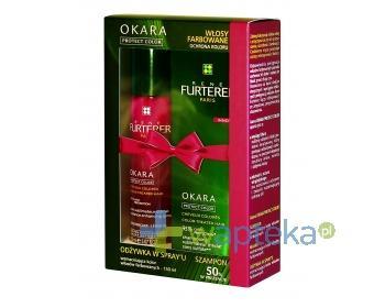 RENE FURTERER OKARA PROTECT COLOR Odżywka w sprayu wzmacniająca kolor włosów farbowanych 150 ml + Szampon wzmacniający kolor włosów farbowanych 200 ml + szampon 50ml GRATIS
