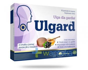 Olimp Ulgard o smaku czarnej porzeczki z miodem 16 tabletek do ssania
