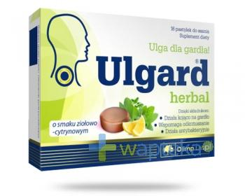 Olimp Ulgard Herbal o smaku ziołowo cytrynowym 16 tabletek do ssania