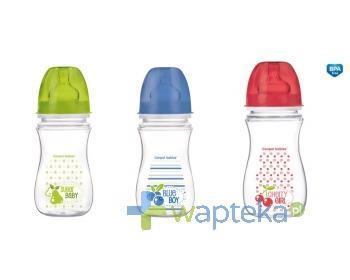 CANPOL Antykolkowa butelka szerokootworowa EasyStart Owoce 300 ml 35/211
