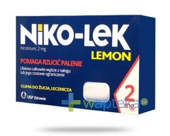Niko-Lek (Niccorex) Lemon 2mg 24 gumy do żucia
