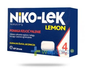 Niko-Lek (Niccorex) Lemon 4mg 24 gumy do żucia