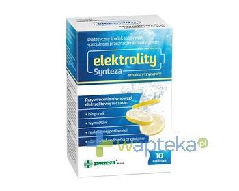 Elektrolity Synteza proszek smak cytrynowy 10 saszetek