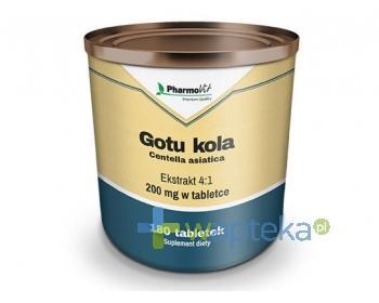 Gotu Kola Ekstrakt 4:1 tabletki 180 sztuk PHARMOVIT