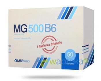 MG500 B6 magnez 50 tabletek