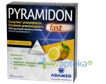 Pyramidon fast 500 mg proszek doustny 10 saszetek