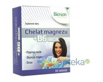 Chelat Magnezu+B6 BIOX 550mg 60 tabletek