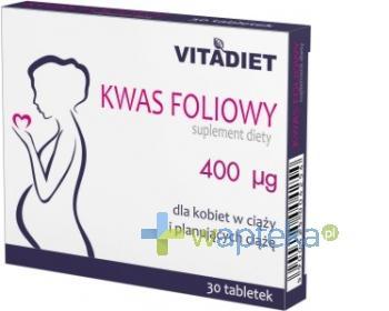 Kwas Foliowy 30 tabletek VitaDiet