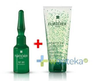 Rene Furterer RF80 kuracja przeciw wypadaniu włosów 12x 5 ml + Rene Furterer Forticea szampon stymulujący wzrost włosów 200 ml