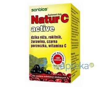 SANBIOS Natur C Active 0,2 g 100 tabletek