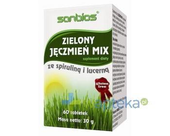 SANBIOS Zielony Jęczmień Mix 60 tabletek