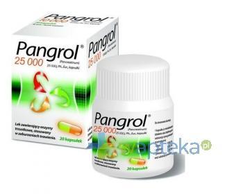 Pangrol 25000  25000 j.m. 20 kapsułek