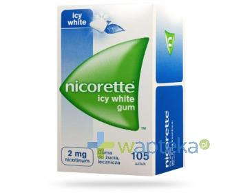 Nicorette Icy White 2mg 105 gum do żucia