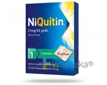 NiQuitin system transdermalny 21mg 1 stopnia 7 plastrów cielistych