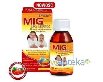 MIG zawiesina dla dzieci o smaku truskawkowym 100ml