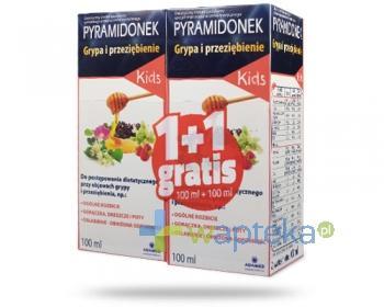 Pyramidonek Grypa i Przeziębienie Kids na objawy przeziębienia 2x 100 ml