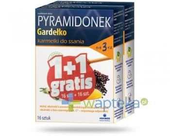 Pyramidonek Gardełko karmelki do ssania 2x 16 sztuk