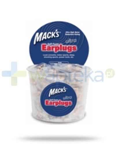 Mack's Zatyczki do uszu piankowe beżowe – pakowane po 2 sztuki (Ultra)