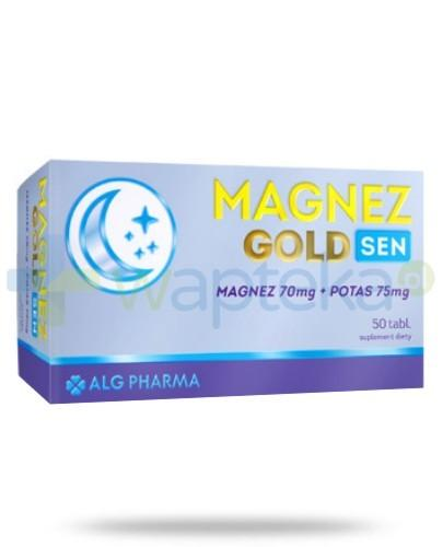 Alg Pharma Magnez Gold Sen magnez 70mg + potas 75mg 50 tabletek