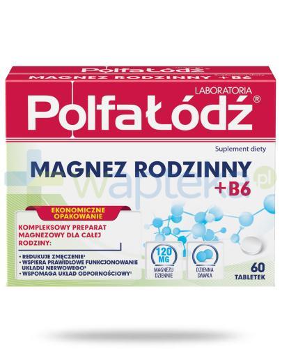 Magnez rodzinny + B6 Laboratoria Polfa Łódź 60 tabletek