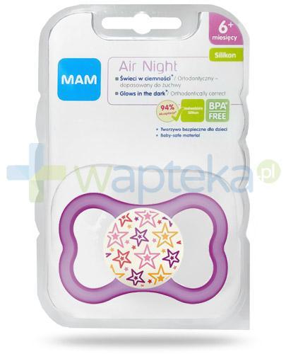 MAM Air Night smoczek silikonowy 6m+ świeci w ciemności 1 sztuka [27584]